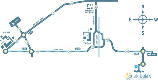 Карта проезда: